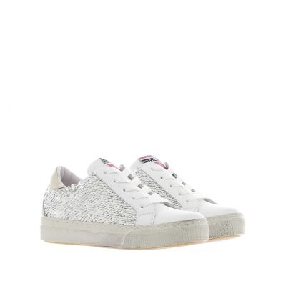 Sneakers in paillettes pettinata