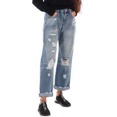 Jeans 5 tasche effetto consumato