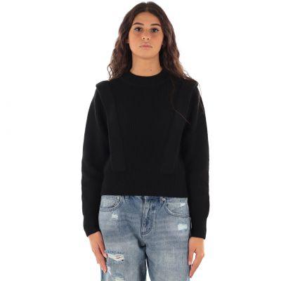 Pullover corto in misto lana