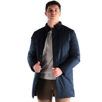 Giaccone edward in viscosa con collo camicia