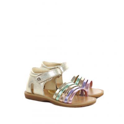 Sandaletto in pelle con tallone chiuso