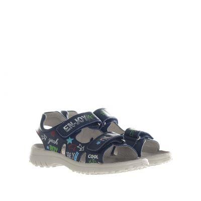 Sandalo in pelle con scritte