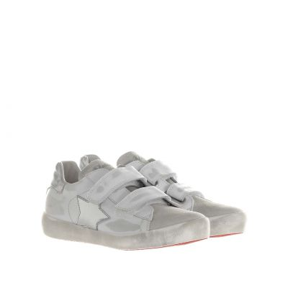 Sneaker in pelle effetto vintage
