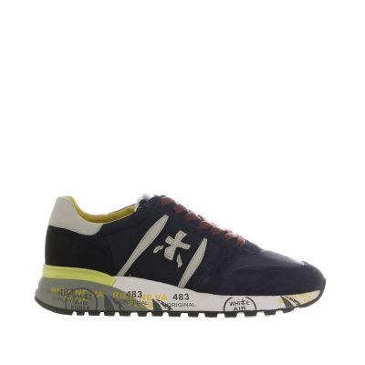 Sneaker in camoscio e nylon délavé