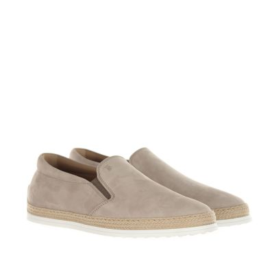 Slip-on in nabuk con gommini e rafia