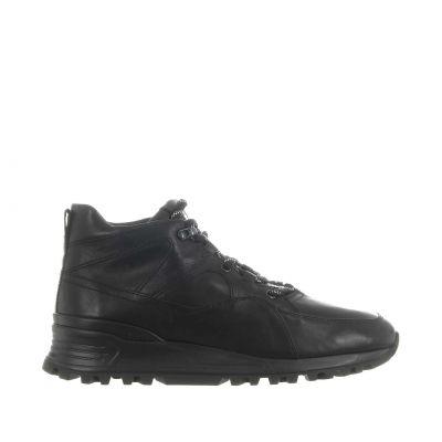 Sneaker high-top in pelle