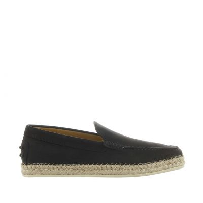 Slip on in nabuk con gommini e rafia