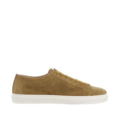 Sneaker in camoscio con fondo a cassetta