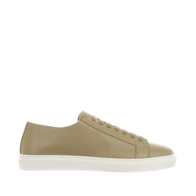 Sneaker in pelle con fondo a cassetta