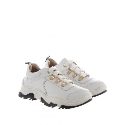 Chunky sneaker in pelle